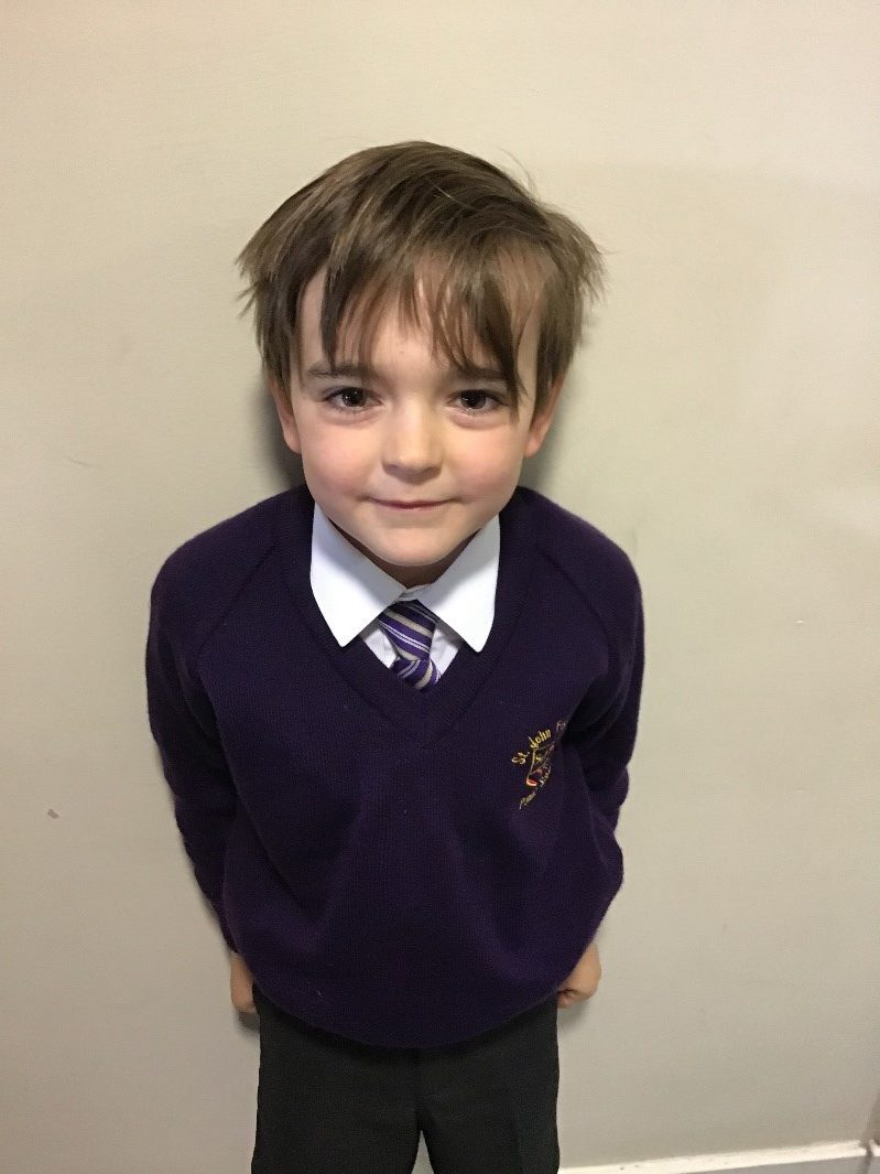 I am Jude and I am kind and caring. I like to help people and look after them if they are upset. I have good manners and I like to smile. I want to help the children in our school SHINE.